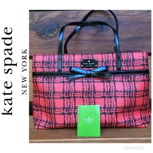 Kate Spade Belleville Plaid Helena Tote Bag